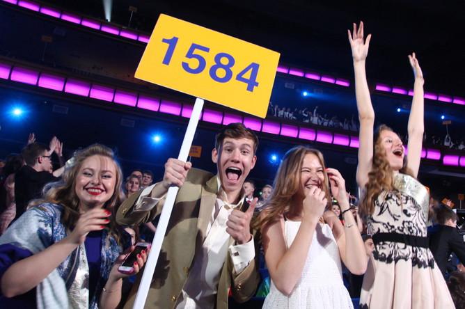 Выпускники на V всероссийской премии «Выпускник-2015» в Государственном Кремлевском дворце