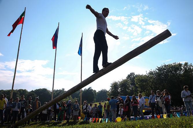 Праздник Сабантуй в парке «Коломенское» в Москве