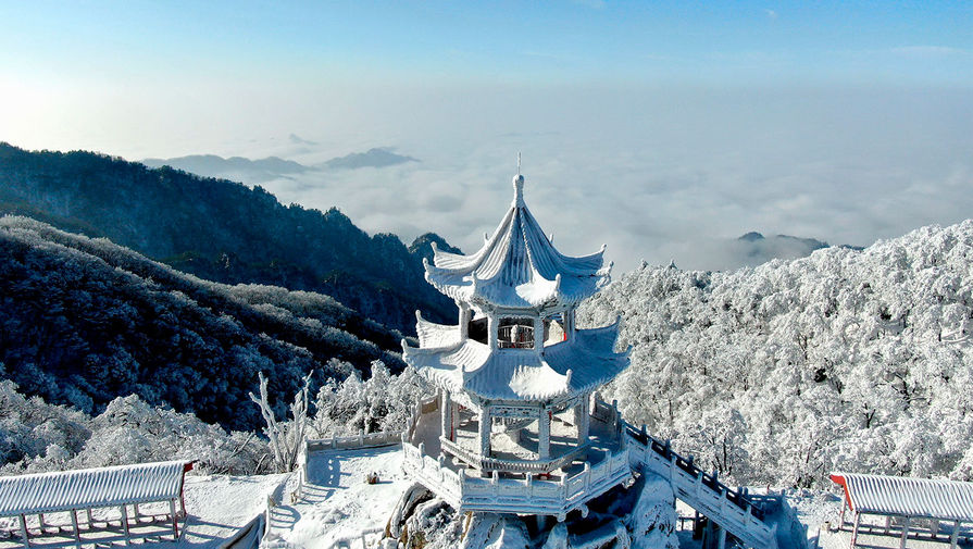 Снежная сказка на западе провинции Хэнань в Китае