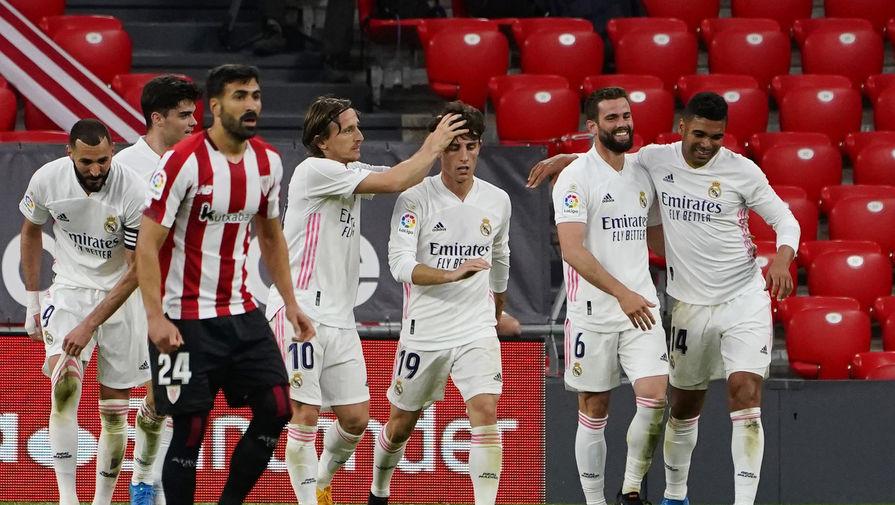 Эпизод матча «Атлетик» (Бильбао) — «Реал»