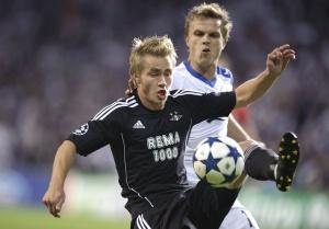 Фрагмент матча «Копенгагена» с «Русенборгом»