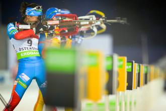 Российские биатлонисты не слишком удачно выступили на первом этапе КМ