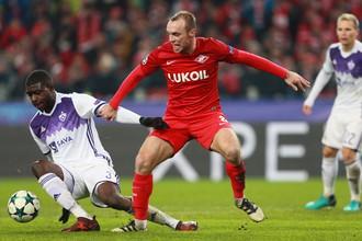 Денис Глушаков усилил игру «Спартака», выйдя против «Марибора» на замену