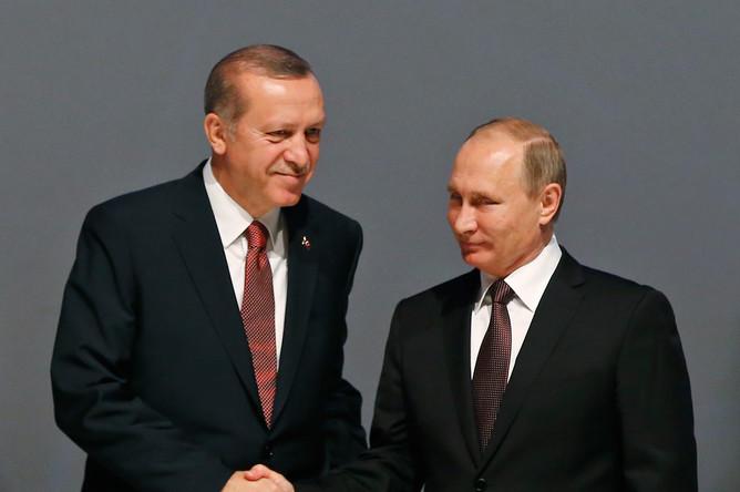 Президент Турции Реджеп Эрдоган и президент РФ Владимир Путин