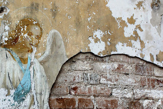 Фреска ангела в храме села Скатинское, 2012 год