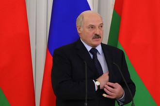 Президент Белоруссии Александр Лукашенко в Санкт-Петербурге в день встречи с президентом России Владимиром Путиным, 3 апреля 2017 года