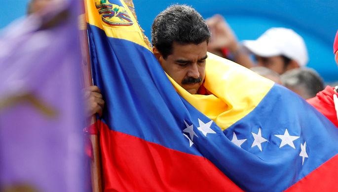 Президент Венесуэлы Николас Мадуро на мероприятии перед выборами в Конституционную ассамблею в Каракасе, 27 июля 2017 года