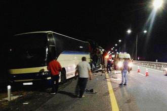 Последствия аварии с участием двух автобусов на трассе М-4 «Дон» в Воронежской области, 18 сентября 2018 года