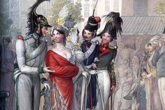 Русские офицеры в Париже в 1814 году
