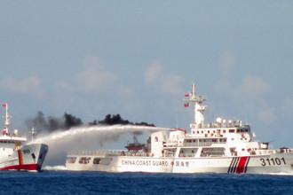 Столкновения китайского и вьетнамского суднов в районе Парасел в мае 2014 года