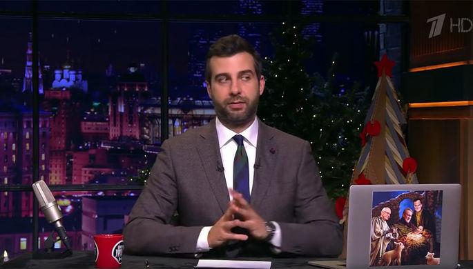 Иван Ургант во время передачи «Вечерний Ургант» на «Первом канале», 7 января 2020 года