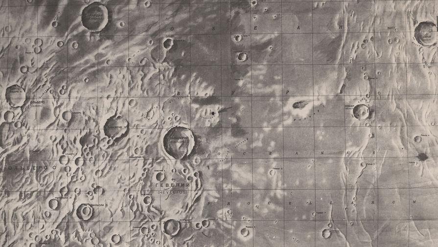 Карта участка Луны, на котором совершила мягкую посадку станция «Луна-9».