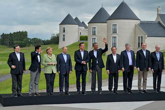 Главы государств «большой восьмерки» на саммите G8 в Великобритании, 2013 год