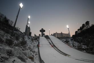 Трамплины для прыжков на лыжах на курорте «Альпенсия»
