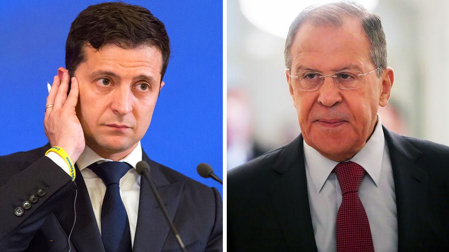 Лавров провел краткие переговоры с Зеленским
