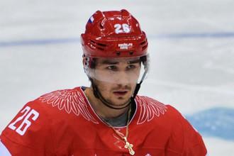 Вячеслав Войнов в форме сборной России во время Олимпийских игр в Сочи