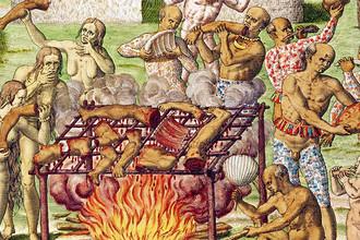 Гравюра Теодора де Бри, XVI век