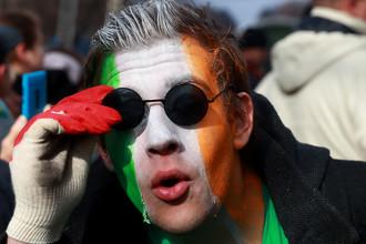 Участники ирландского карнавала в честь Дня святого Патрика в Москве, 2017 год