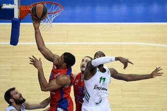 ЦСКА выиграл второй четвертьфинальный матч Евролиги и оказался в одном шаге от Финала четырех