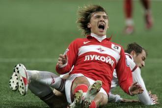 Максим Калиниченко с 2000 по 2008 год выступал в московском «Спартаке»