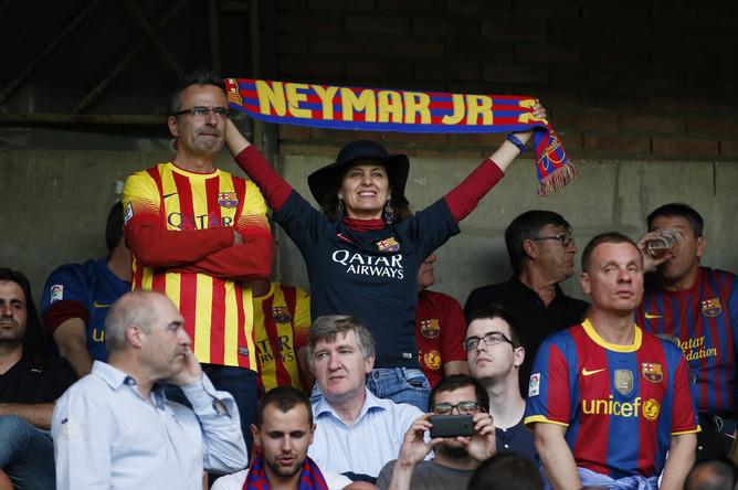 Болельщики «Барселоны» и лично Неймара