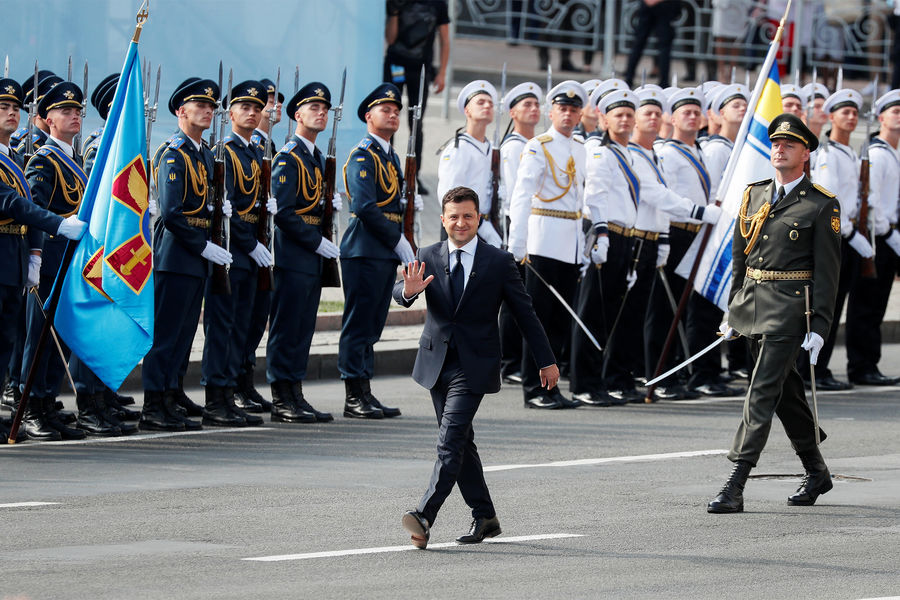 Владимир Зеленский навоенном параде вчесть дня Независимости Украины, 24 августа 2021 года
