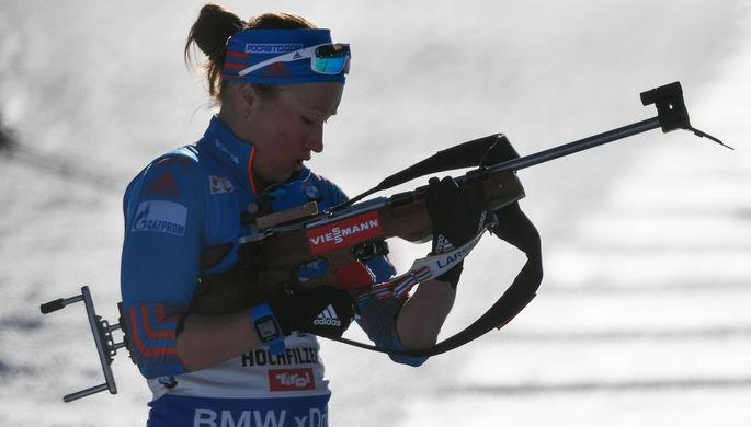 Российская биатлонистка Ольга Подчуфарова на чемпионате мира по биатлону в австрийском Хохфильцене