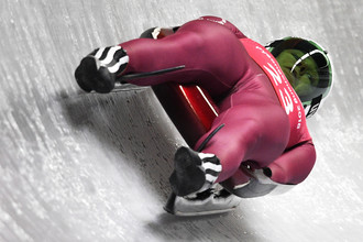 Екатерина Батурина во время соревнований на Олимпиаде в Пхенчхане