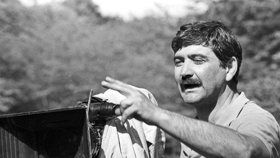 Георгий Шенгелая на съемках фильма «Хареба и Гоги» в Грузии, 1986 год