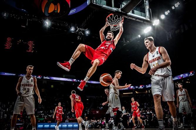 Сборные России и Сербии в полуфинале чемпионата Европы по баскетболу
