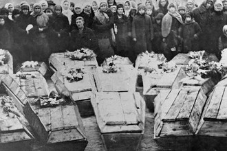 Похороны молодогвардейцев в Краснодоне, 16 февраля 1943 года