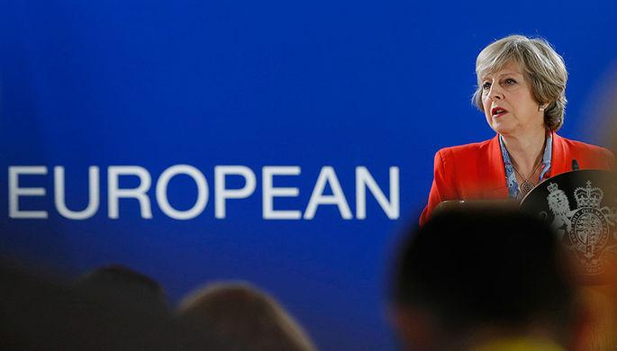 Премьер-министр Великобритании Тереза Мэй на саммите ЕС в Брюсселе, 21 октября 2016 года