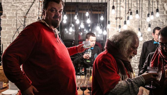 Василий Уткин на праздновании 60-летия главного редактора радиостанции «Эхо Москвы»...