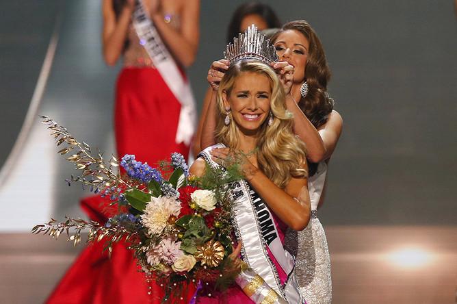 26-летняя Оливия Джордан из Оклахомы во время финала конкурса «Мисс США»