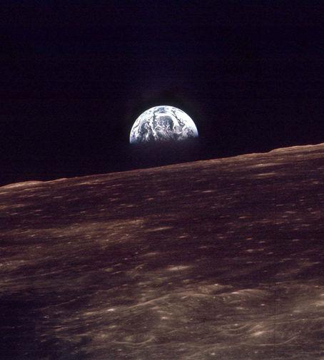 Фотография Земли, сделанная во время облета Луны космическим кораблем «Аполлон-8»