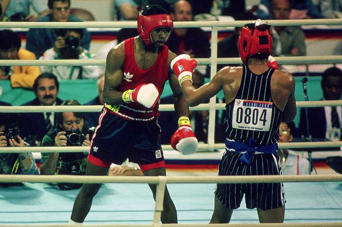 Рой Джонс в финале Олимпиады-1988