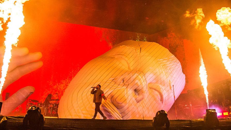 The Weeknd во время выступления на фестивале Коачелла в Калифорнии, 2018 год