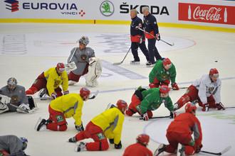 Сборная России провела тренировку перд матчем со шведами