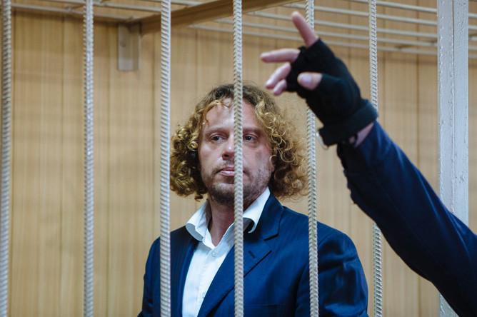 Бизнесмен Сергей Полонский в Тверском районном суде на рассмотрении ходатайства следствия о продлении ареста