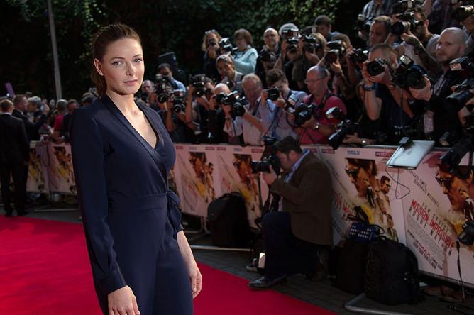 Актриса Ребекка Фергюсон на премьере фильма «Миссия невыполнима: Племя изгоев»