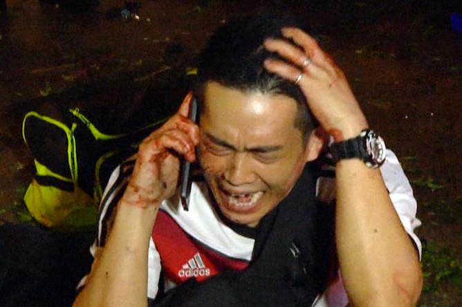 Пострадавший в результате взрыва в центре Бангкока