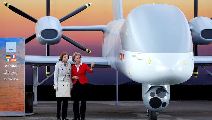 Во время демонстрации Eurodrone на ILA Berlin 2018