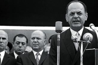 Стилианос Паттакос, Николаос Макарезос и Георгиос Пападопулос в Афинах, 1967 год