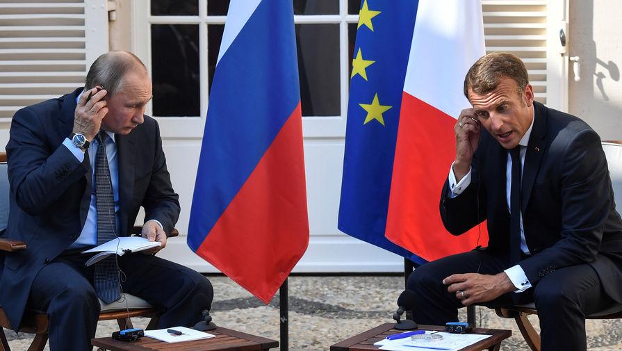 Путин и Макрон не обсуждали отмену санкций