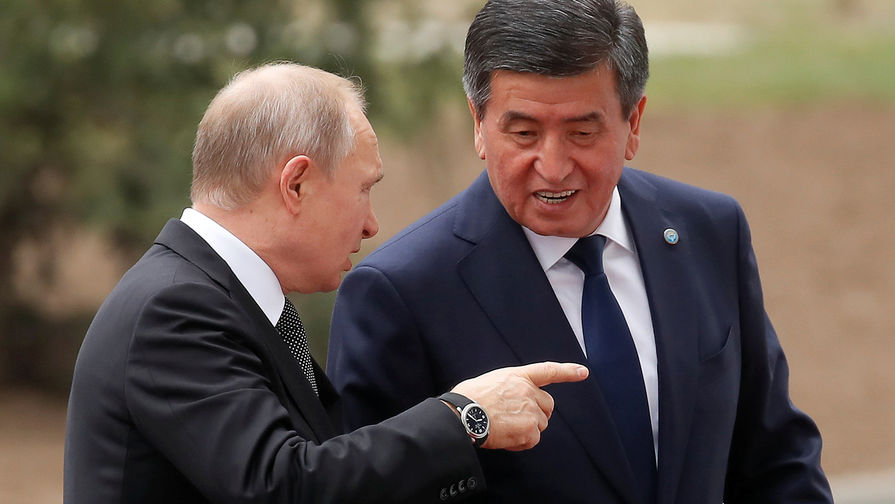 Жээнбеков отметил вклад Путина в решение проблем Киргизии