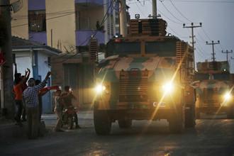 Турецкая военная техника на границе с Сирией, 9 октября 2019 года