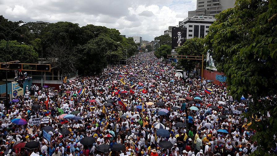 В Венесуэле прошли протесты с требованием отставки президента Мадуро