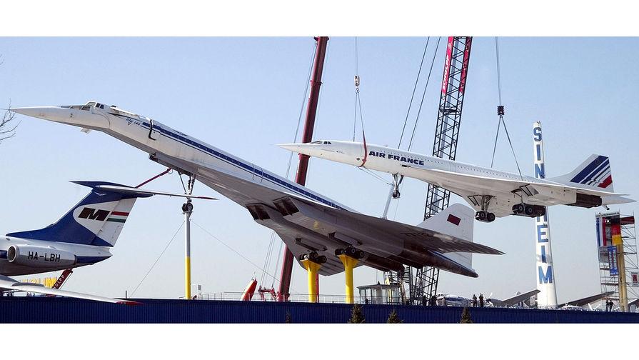 Самолеты Concorde F-BVFB и ТУ-144 в «Музее техники» в Зинсхайме, 2004-й год