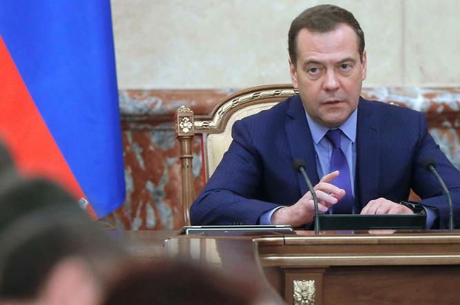 Председатель правительства России Дмитрий Медведев во время заседания кабмина, 7 марта 2019 года