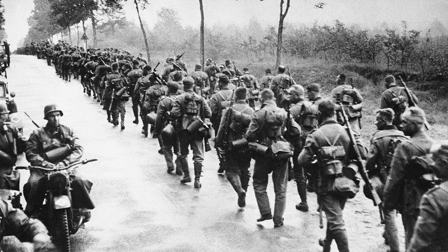 Немецкие войска во время похода в Польшу, 1939 год